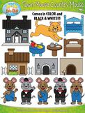 Town Mouse Country Mouse Famous Fables Clipart {Zip-A-Dee-Doo-Dah Designs}