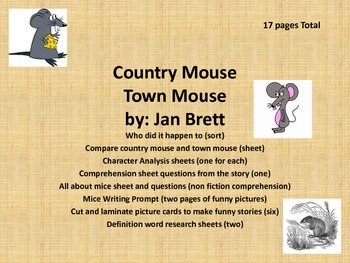Town Mouse & Country Mouse  by Jan Brett........Reading Co