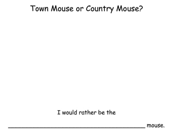 Town Mouse or Country Mouse?