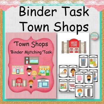 Town Shop Binder Matching Task