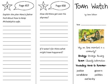 Town Watch Trifold - 3rd Gr Literacy by Design Theme 13