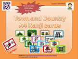 Japanese: Town and Country A4 Kanji cards