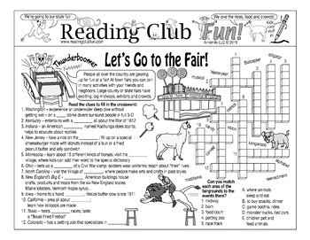 Bundle: Town and State Fairs Two-Page Activity Set and Word Search