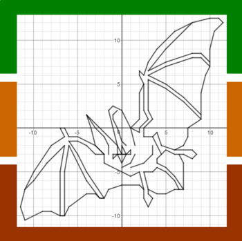 Townsend's Big-Eared Bat - A Coordinate Graphing Activity