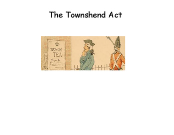 Townshend Act Simple Story