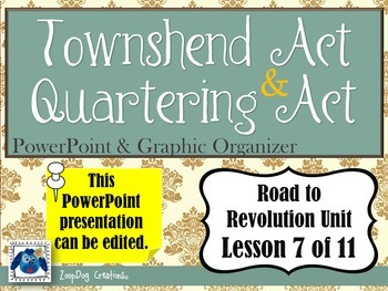 Townshend Act - Quartering Act