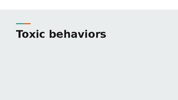 Toxic Behavior Presentation