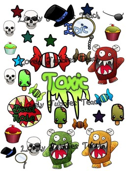 Toxic Theme: Sticker Sheet