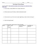 Toxicology of Heavy Metals Worksheet