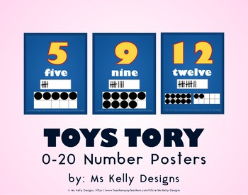Toy 0-20 Number Posters Story