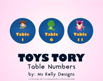 Toy 1-12 Table Numbers Story Set
