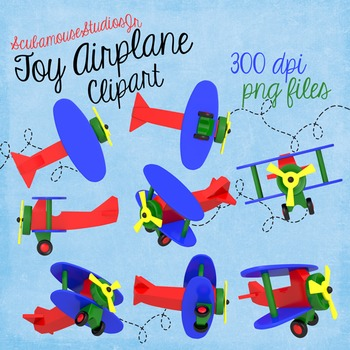 Toy Airplane Clipart, Preschool Toy, Early Education Decoration