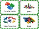 Toy Bin Labels (green and white striped frame)
