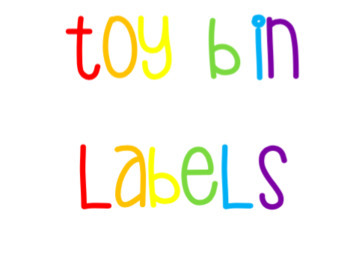 Toy Bin Labels