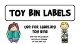 Toy Bin Labels for Toy Organization