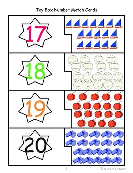 Toy Box Number Match Cards