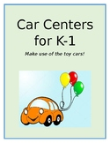 Toy Car Math Centers for K-1