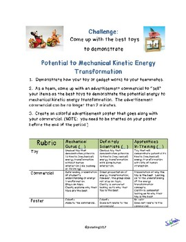 Toy Challenge:  Potential to Kinetic Energy  TEKS 6.8A
