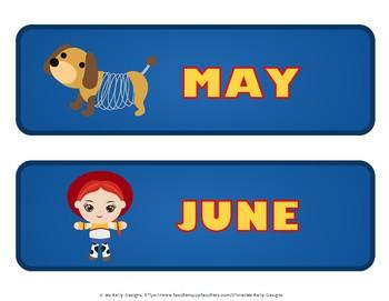 Toy Classroom Calendar Story Set