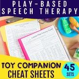 Toy Companion Speech & Language Cheat Sheets - Play Based
