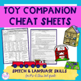 Toy Companion Speech & Language Cheat Sheets - Play Based