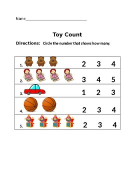 Toy Count-Counting 1 to 4