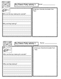 Toy Dance Party Activity Sheets