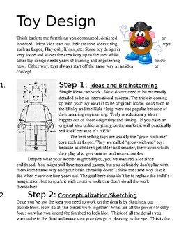 Toy Design Art Lesson Papers