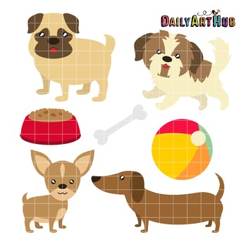 Toy Dog Breeds Clip Art - Great for Art Class Projects!