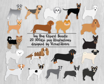 Toy Dog Clip Art, All Your Furry Friends Gathered Into One Illustration Bundle