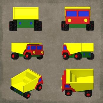 Toy Dump Truck Clipart, Preshool Dump Truck, Early Education