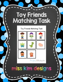 Toy Friends Matching Folder Game for Early Childhood Special Education