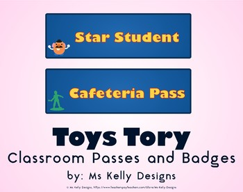 Toy Passes and Badges Story Set