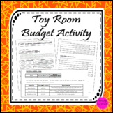 Toy Room activity for learning how to budget money