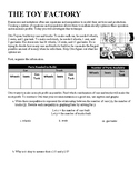 Toy Shop - Linear Systems of Inequalities Activity