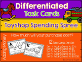 Toy Shop Spending Spree Task Cards - Adding Money Amounts