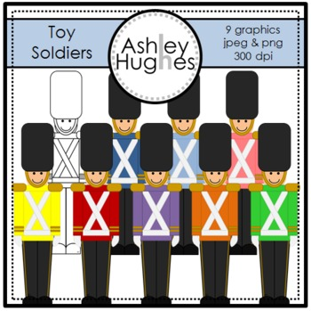 Toy Soldiers Clipart {A Hughes Design}