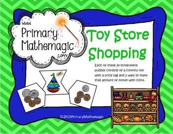 Toy Store Shopping:  Showing money amounts in different ways