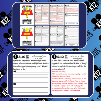 Toy Story 4 Movie Guide | Questions | Worksheet (G - 2019)