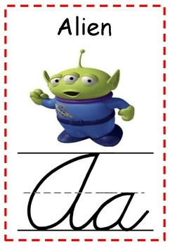 Toy Story 4 Theme Alphabet Line Cursive for Classroom