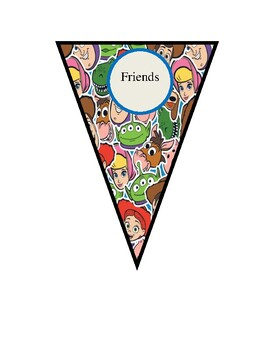 Toy Story 4 Theme Inspired Pennant Banners for Bulletin Boards