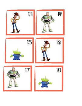 Toy Story Calendar Cards
