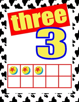 Toy Story Classroom Number Posters