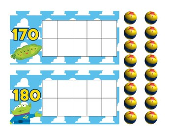 Toy Story Counting Days of School Interactive Ten Frames for Calendars