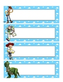 Toy Story Name Plate Labels