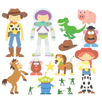 Toy Story Digital Clipart & Vector Set