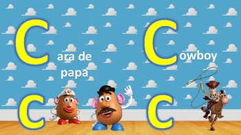 Toy Story Dual Language Alphabet