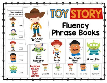 """Toy"" Fluency Phrase Books - Includes all 220 Dolch Sight Words"