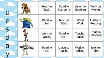 Toy Story Guided Reading Groups and Rotation Slides