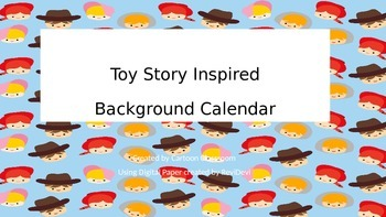 Toy Story Inspired Background Calendar